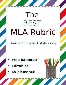 this editable mla rubric was a labor of love it contains 65