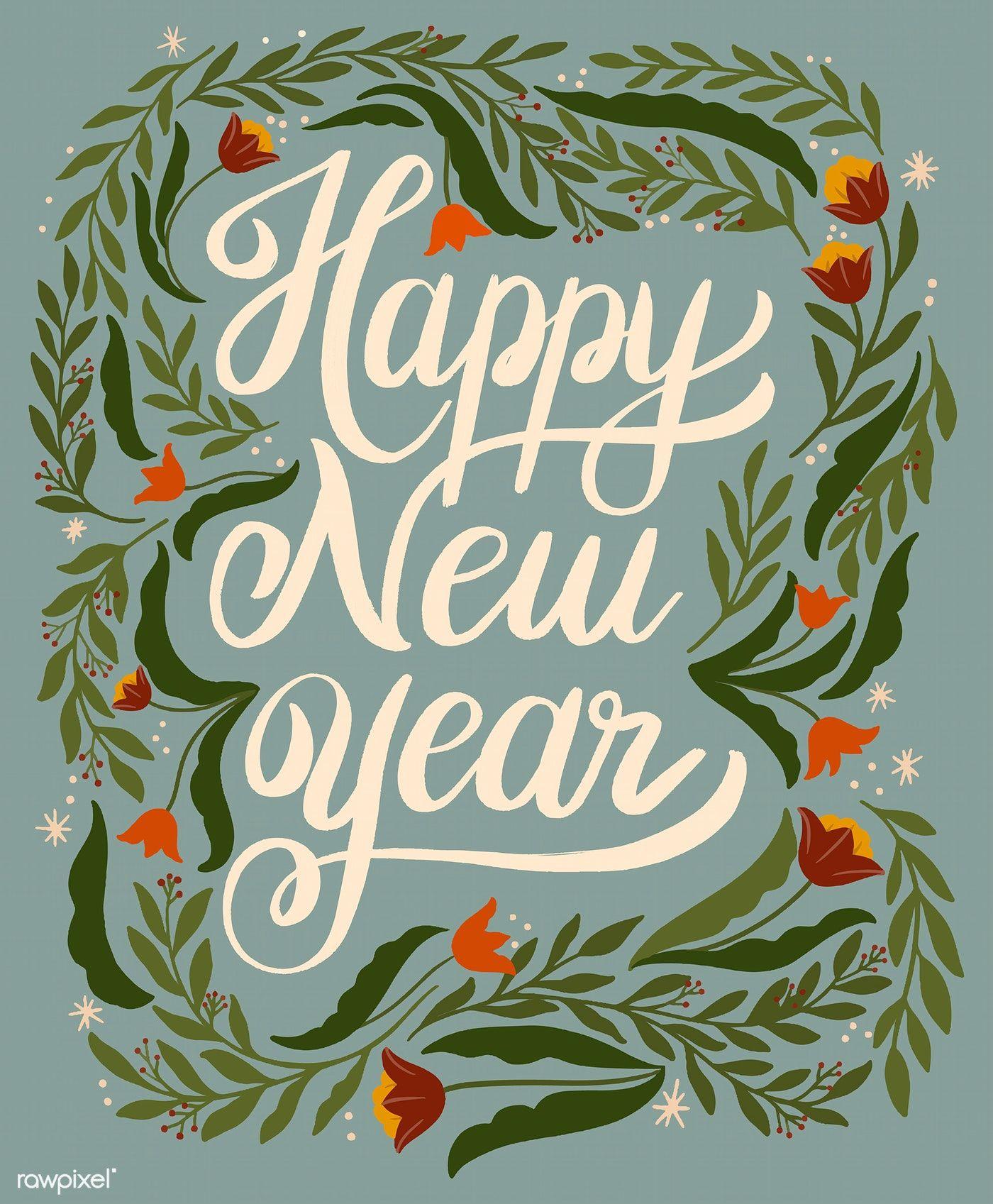 Download Premium Vector Of Happy New Year Greeting Card Design Vector New Year Greetings Happy New Year Cards New Year Greeting Cards