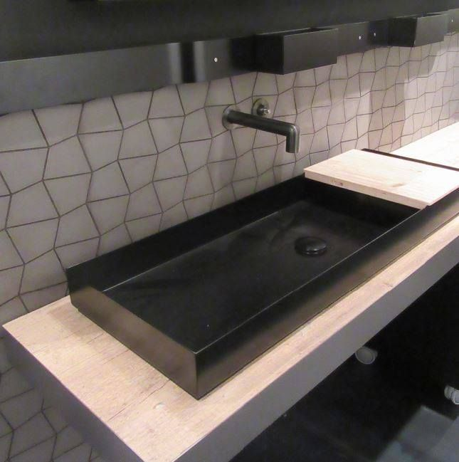 Encimeras de lavabos de cemento que marcan una línea innovadora y ...