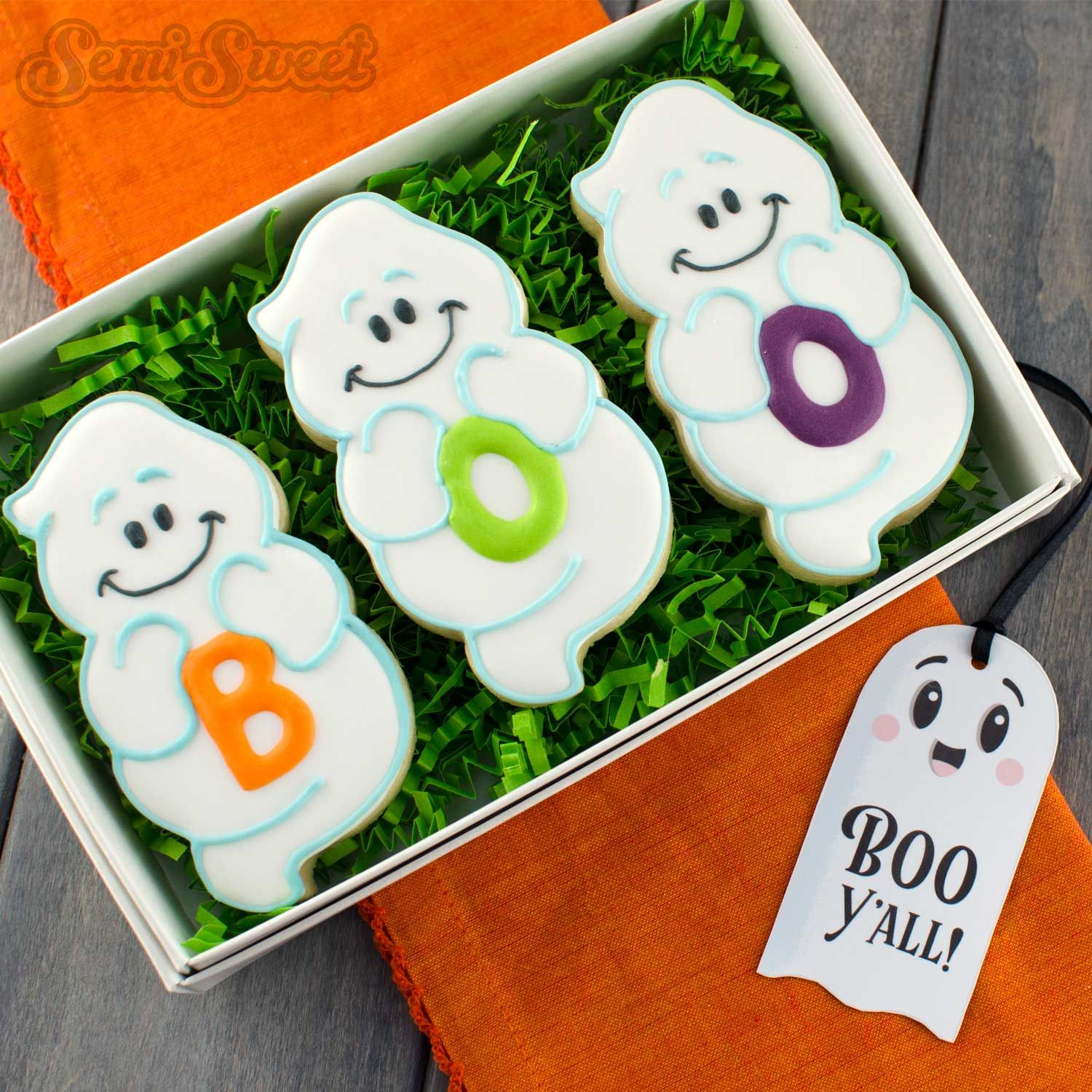 How to Make Chubby Ghost Cookies Ghost cookies, Boo ghost and - Halloween Decorated Cookies