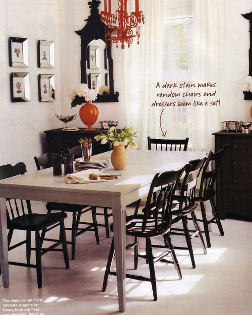 Week 4 Term Gestalt Principle Of Similarity States Things That Are Similar Are Perceived To Be More Related Modern Dining Room White Table Black Chairs Home
