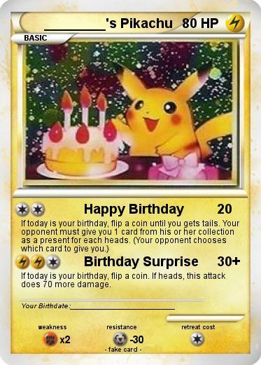 L Anniversaire De Pikachu Birthday Pikachu Pokemon Birthday Pokemon Birthday Card