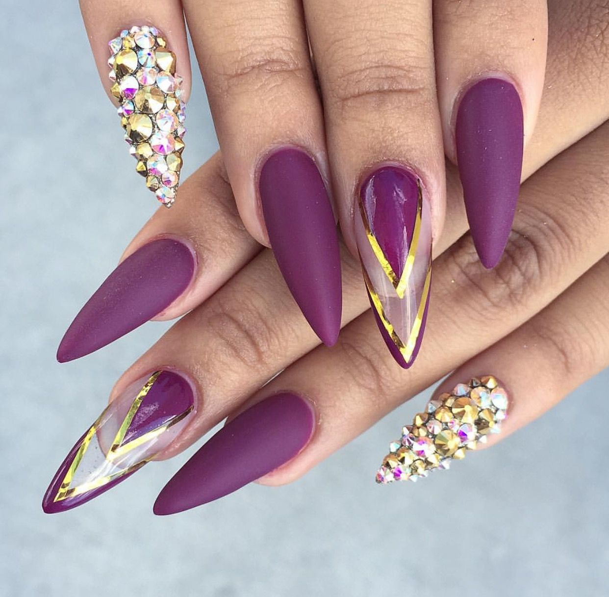 purple .switch to coffin and yass   classy acrylic nail designs ...