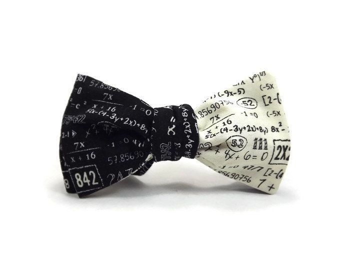 Numbers Bow Tie/ Math Bow Tie/ Men's Bow Tie/ Mathematician Bow Tie/ Teacher Bow Tie/ Black Dog Bow Tie/Teacher Gift/ Graduation Tie ydnv4azDE8