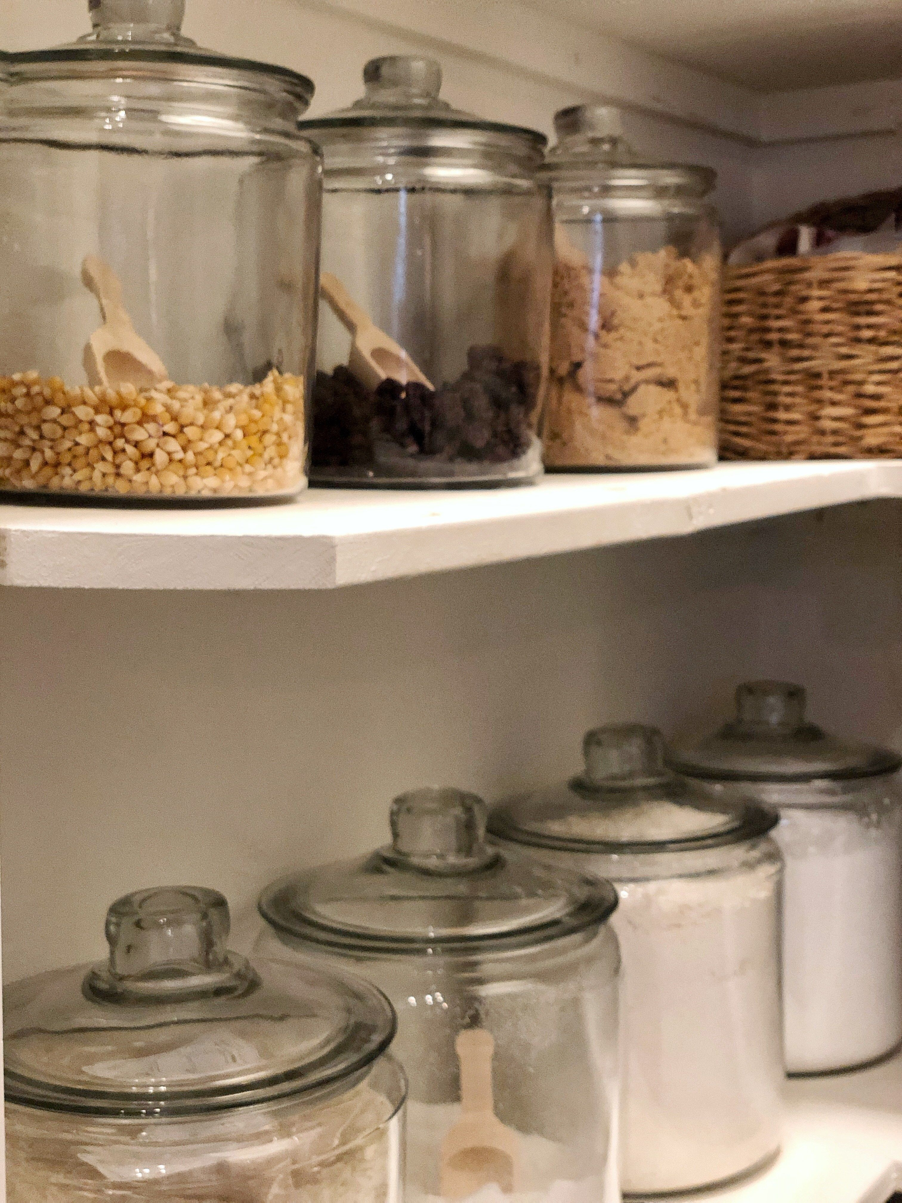 Glass Jars For Food Storage Kitchen Jars Glass Kitchen