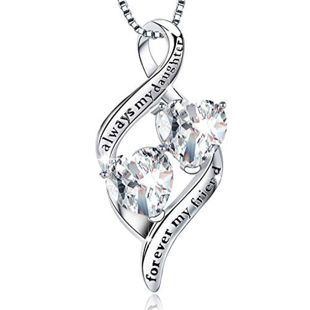 Box 925 Sterling Silver /'Always in my Heart/' Diamond Locket Necklace Love Gift