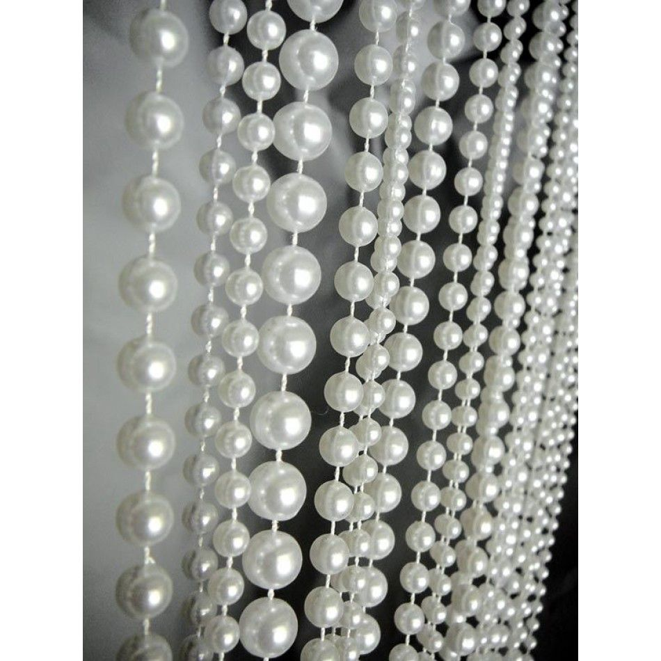 3 X 6 Foot Beaded Curtain Panels Pearl Ballchain Beaded Curtains White Pearls Best Seller Beaded Curtains Event Decor Direct Wedding Supplies Wholesale