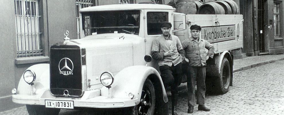 1939 - Mercedes delivery truck for Krombacher Beer ...