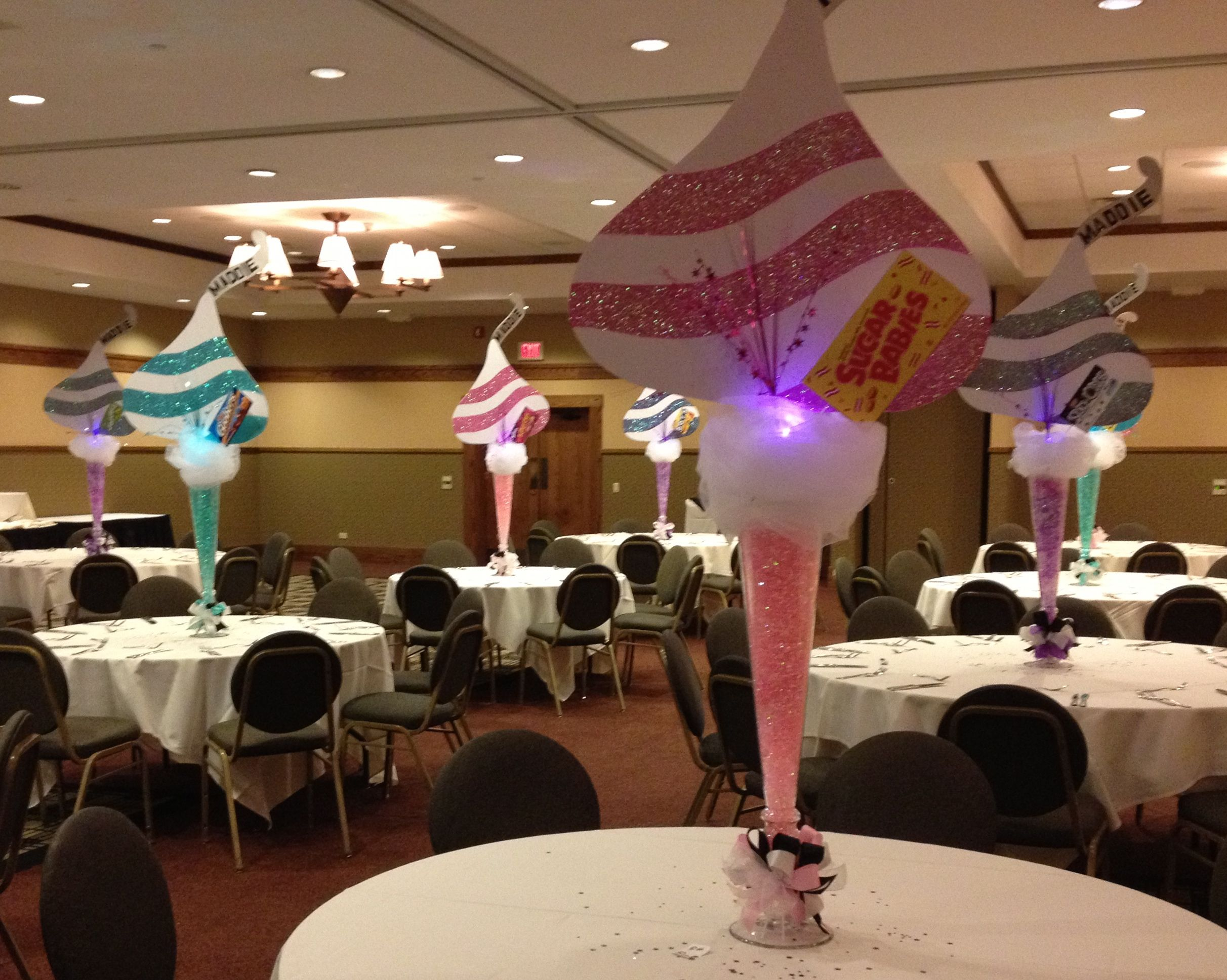 Candy Theme Hershey's Kiss | Candy Theme Mitzvah Centerpieces ...