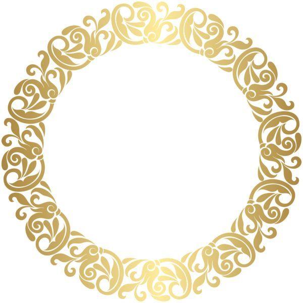 Image Result For Art Nouveau Circle Arabesco Dourado Png Molduras De Luxo Molduras Redondas