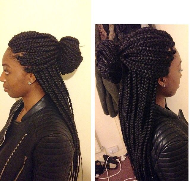 Box Braids Medium Large Size Box Braids Hairstyles Hair Styles Braided Hairstyles