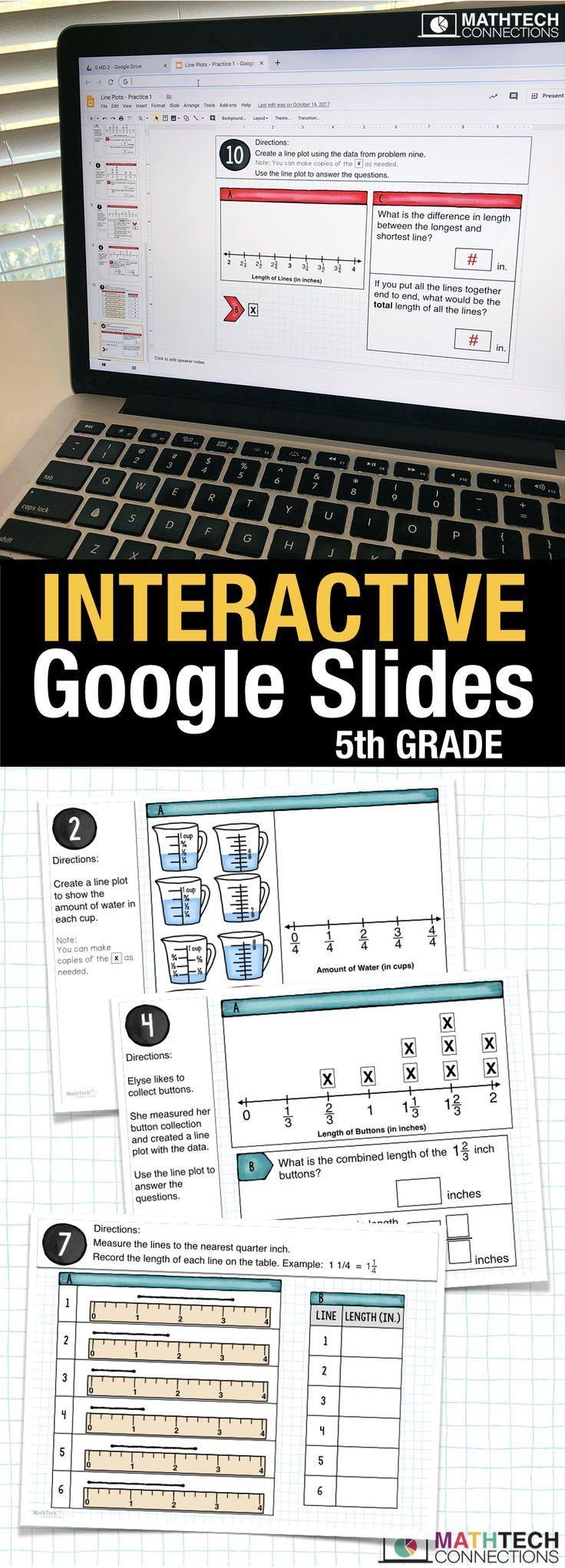 5th Grade Digital Math Centers Google Classroom