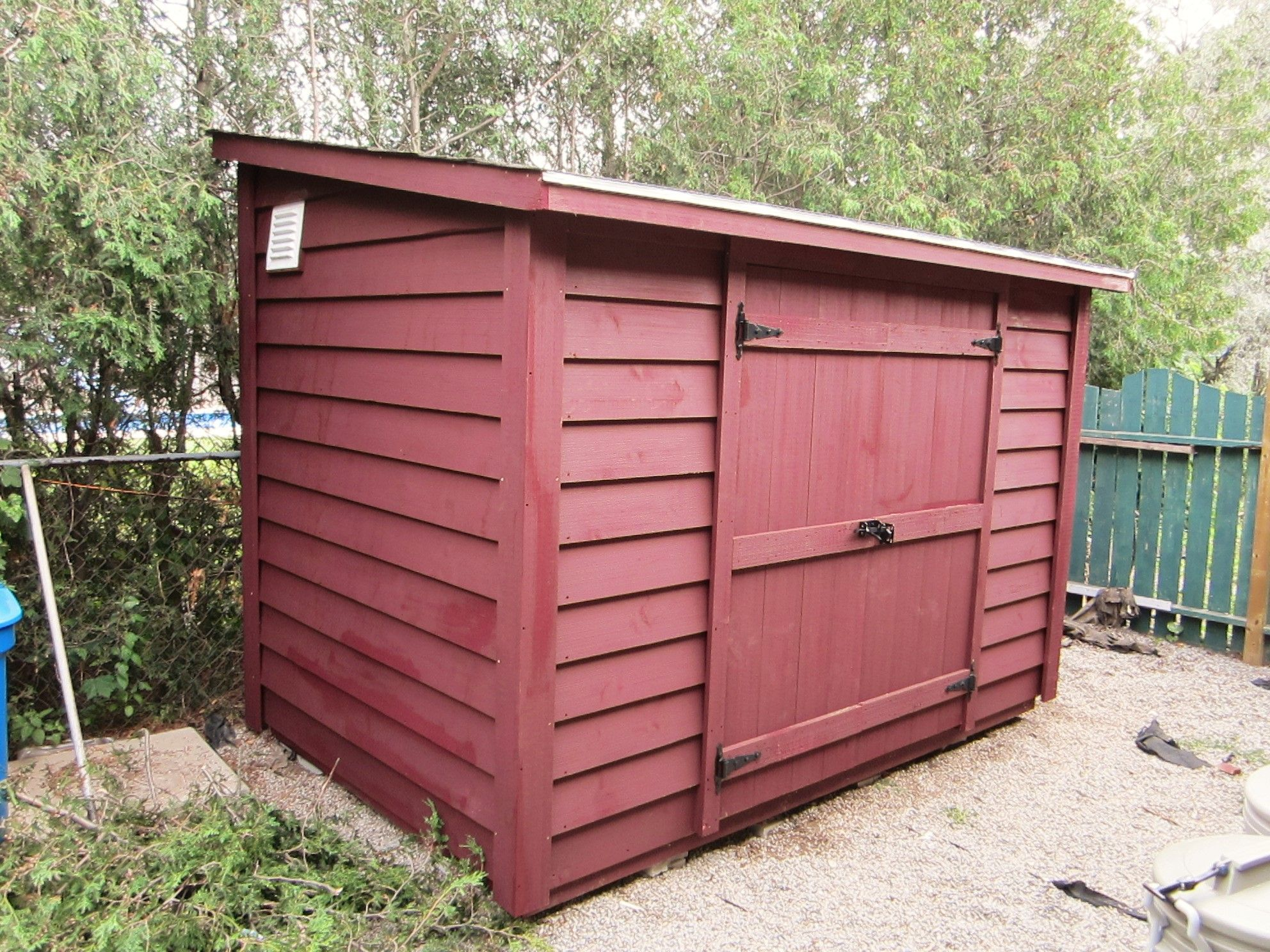 Garden Sheds With Lean To 6x12 lean to shed with 5ft. double doors. the stain is barn red