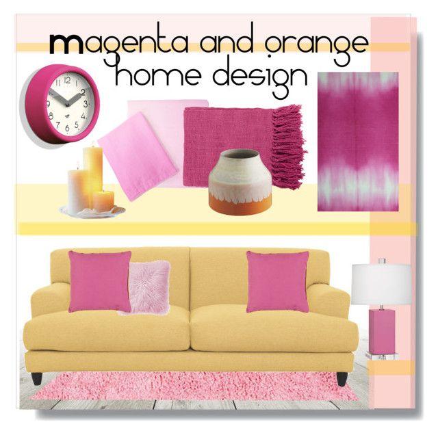 Magenta and Orange Home Design\