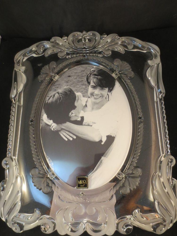 Mikasa Crystal Picture Photo Frame Princess Satin Wedding Frame ...
