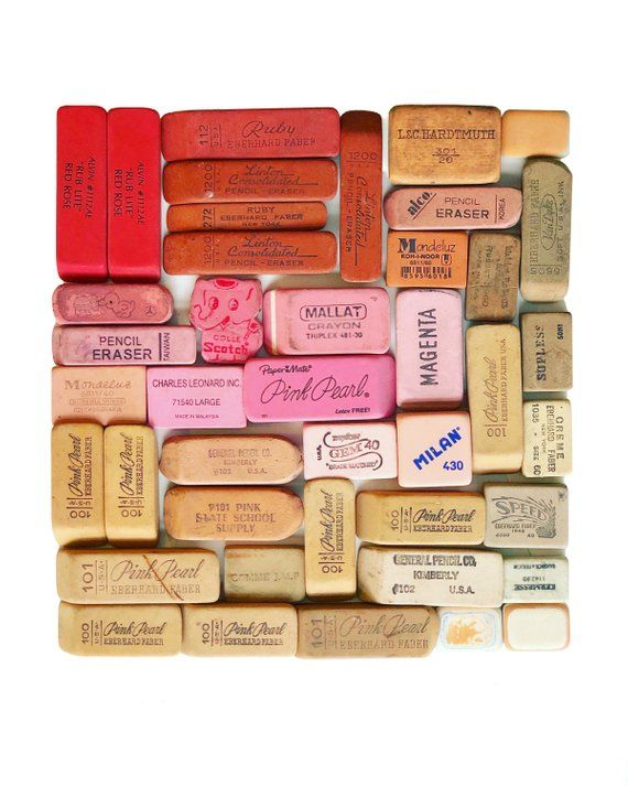 """Eraser Collection Number 2"" an archival photographic print by Lisa Congdon. (Sold unframed) 8.5"