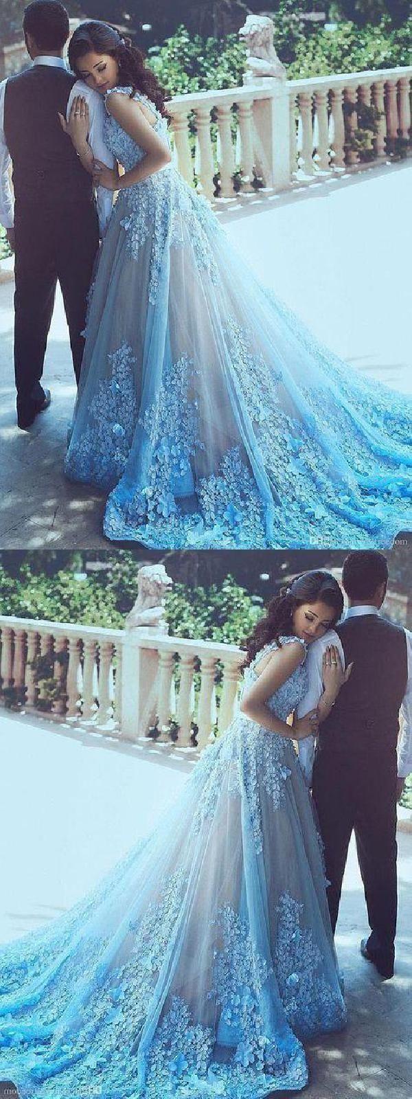 Blue wedding dresses blueweddingdresses aline wedding dresses