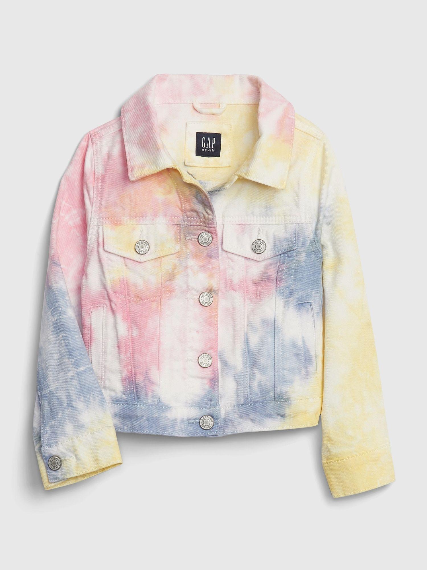 Toddler Tie Dye Denim Jacket Gap Tie Dye Denim Clothes Tie Dye Outfits [ 2000 x 1500 Pixel ]