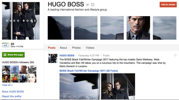 Hugo Boss went with a slick look and I think it suits them well.