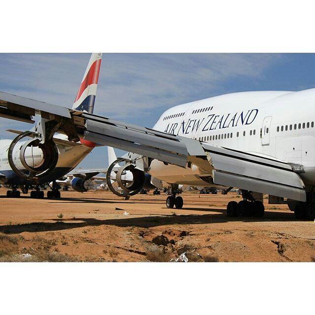 Retired Air New Zealand B747-400  @derin.a.photos