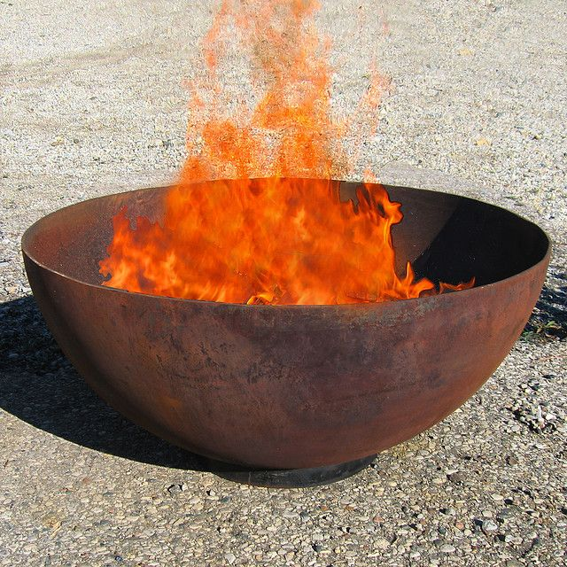 Big Bowl O Zen 37 Recycled Steel Firepit Outdoor Fire Pit Fire