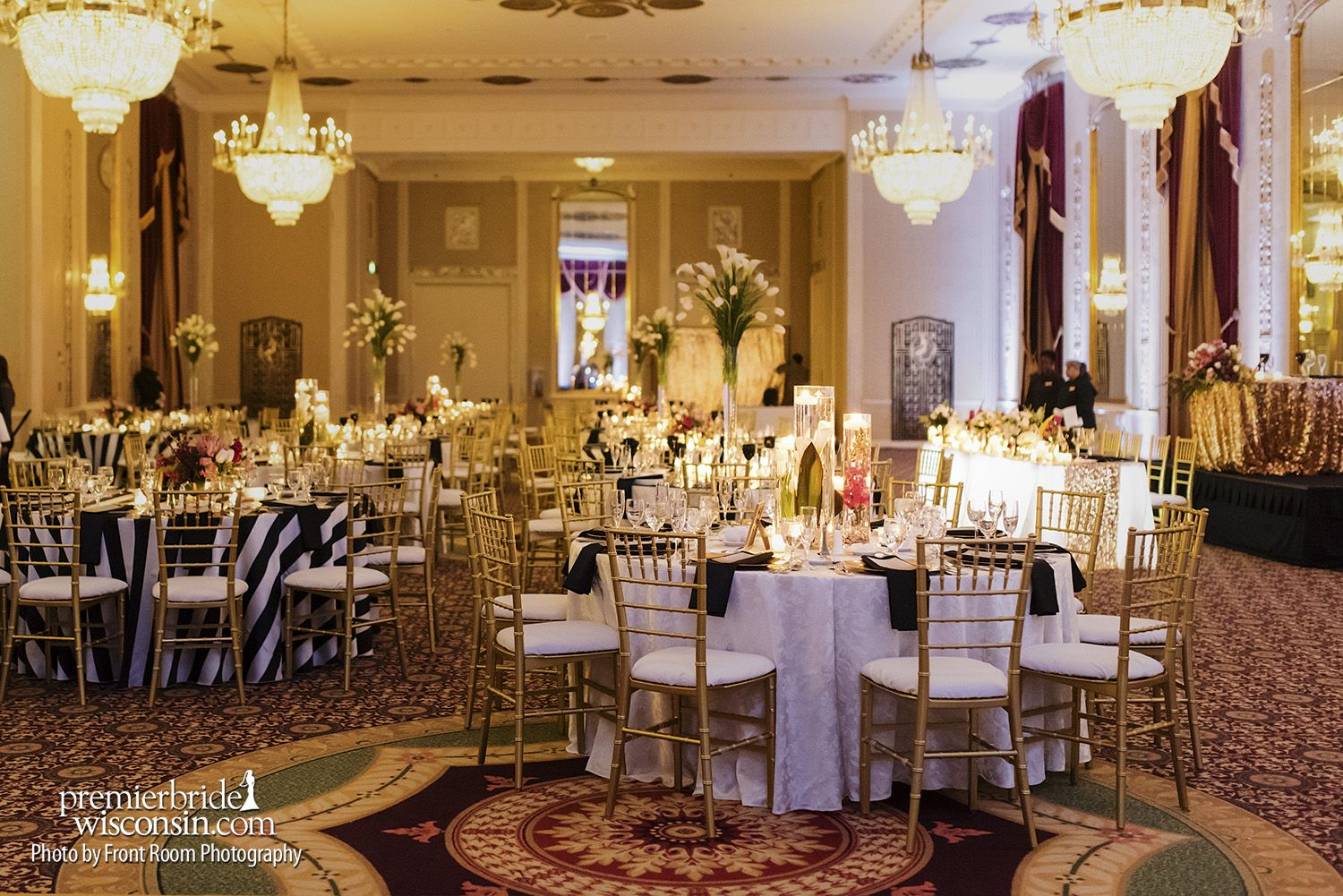 Real Wedding: Wedding Elegance at the Hilton Milwaukee City Center ...