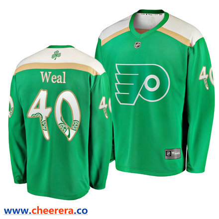 Men S Philadelphia Flyers 40 Jordan Weal Green 2019 St Patrick S Day Adidas Jersey Philadelphia Flyers Nhl Hockey Jerseys Jersey