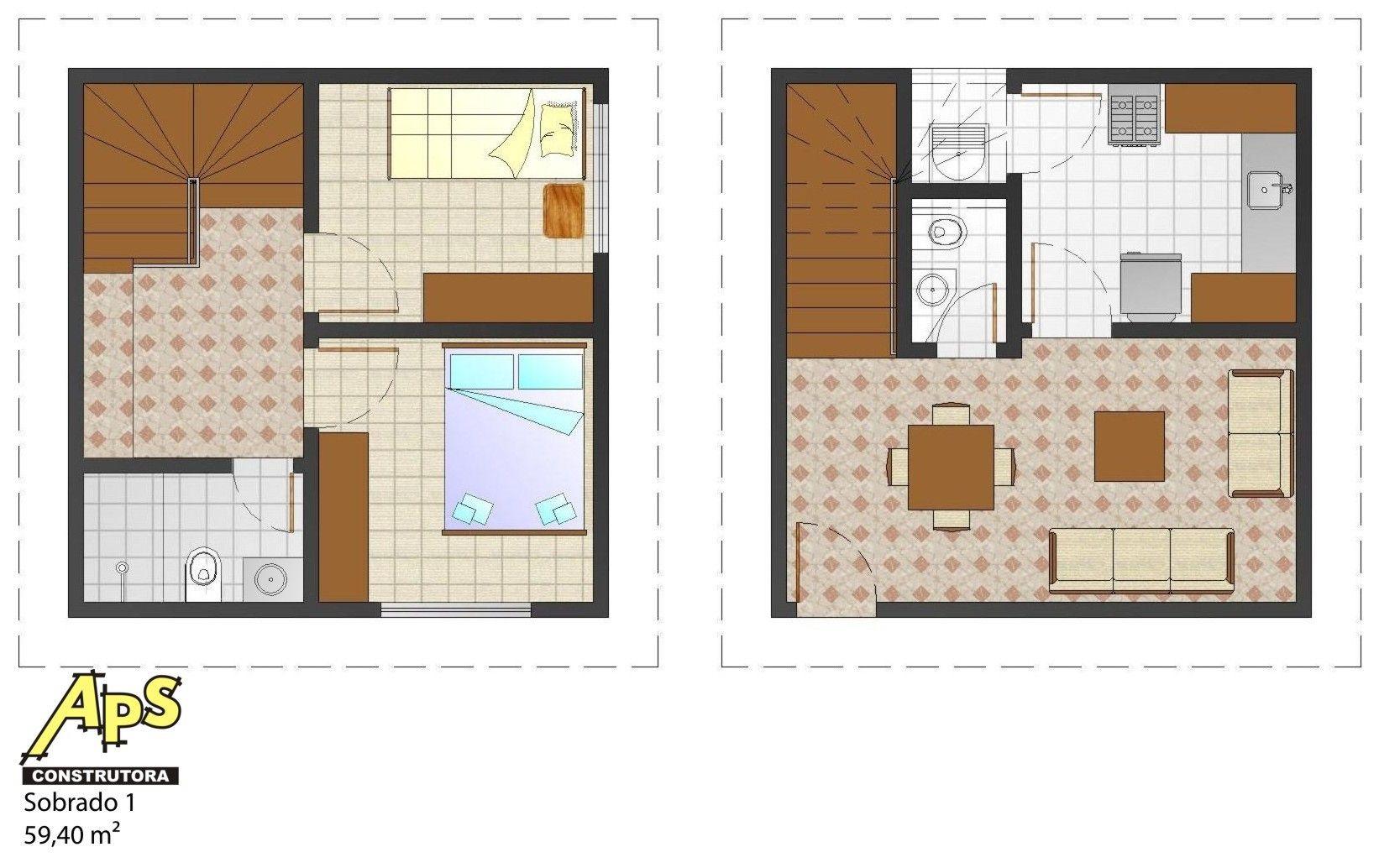 Planta de casas pequenas de dois andares avar guia for Casetas pequenas