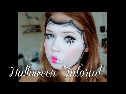 doll mask  halloween makeup tutorial  halloween makeup