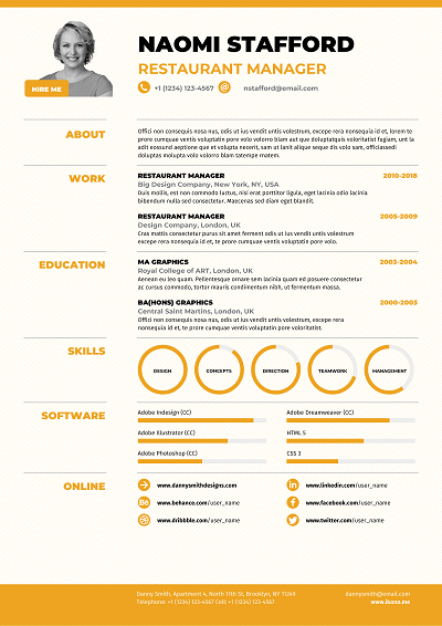 Applewood Resume design template, Resume layout