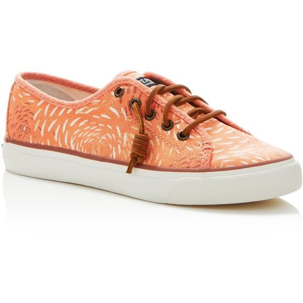Sperry Seacoast Lace Up Sneakers ($60) ❤ liked on Polyvore featuring shoes,  sneakers