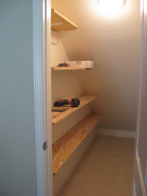 Updated With Pics Under Stairs Closet Organization