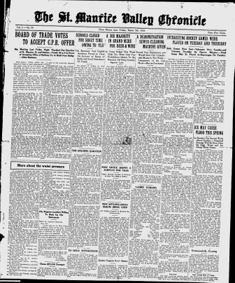 The St. Maurice Valley Chronicle - Google News Archive Search