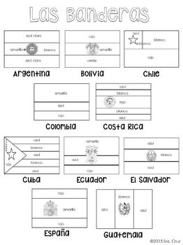 Flags Of Spanish Speaking Countries Coloring Sheets 1915508 Teaching Resources