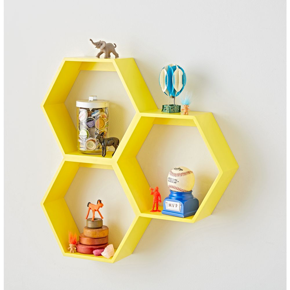 Honeycomb Wall Shelf (Yellow) | Products