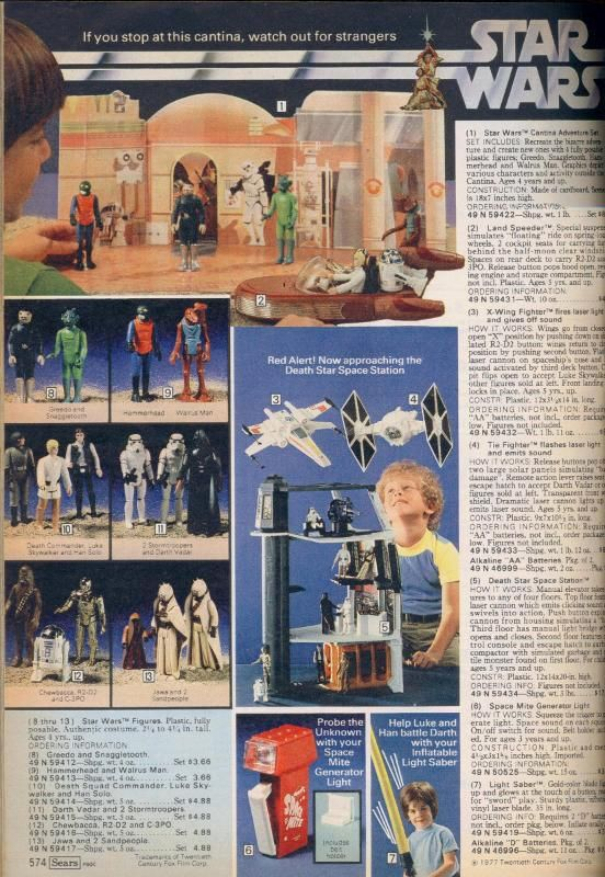 Vintage catalog page Star wars figures, Classic star