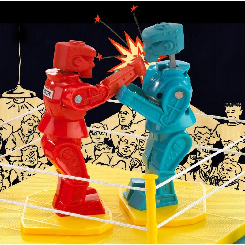 Rockem Sockem Robot Toy Ring Red In Color
