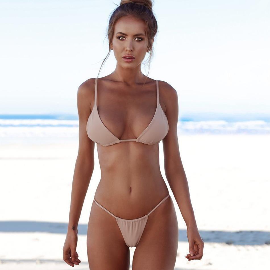 Bikini beach babe thong