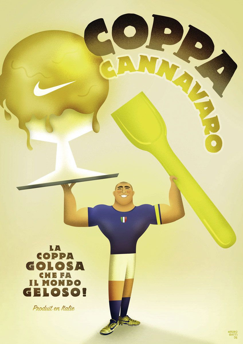 cable inyectar víctima  Nike: Fabio Cannavaro Print Advertisement by Mauro Gatti | Italy poster,  Poster ads, Advertising
