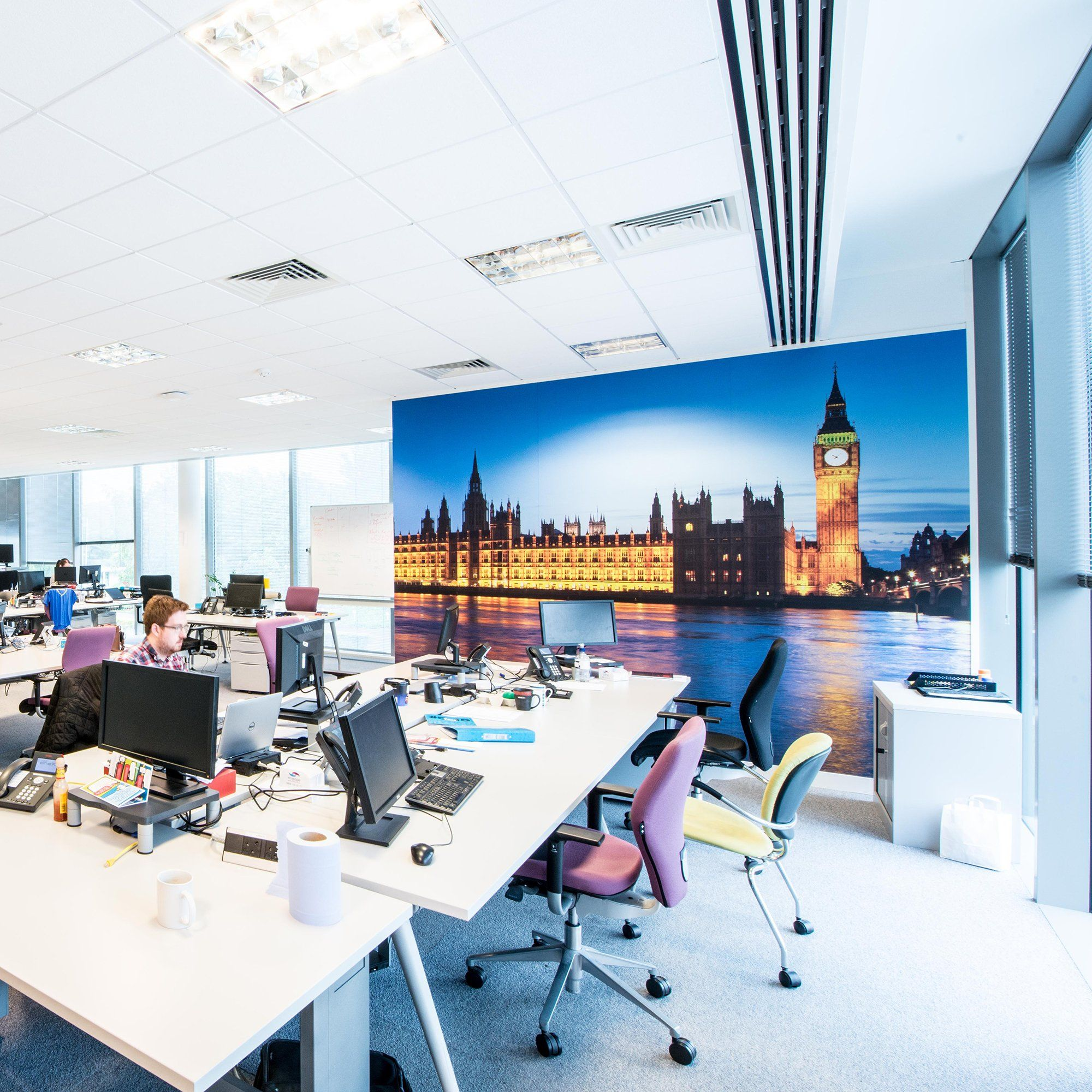 Experian | Vinyl Impression | Creative office space ...