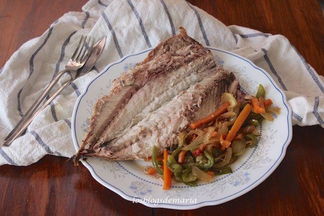 Caballa Marinada A La Plancha Comer Con Poco Receta Cocina Española Recetas De Caballa Verduras Salteadas