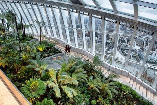 Walkie Talkie Park Opens Amid Row Over Public Access Sky Garden Garden View Roof Garden