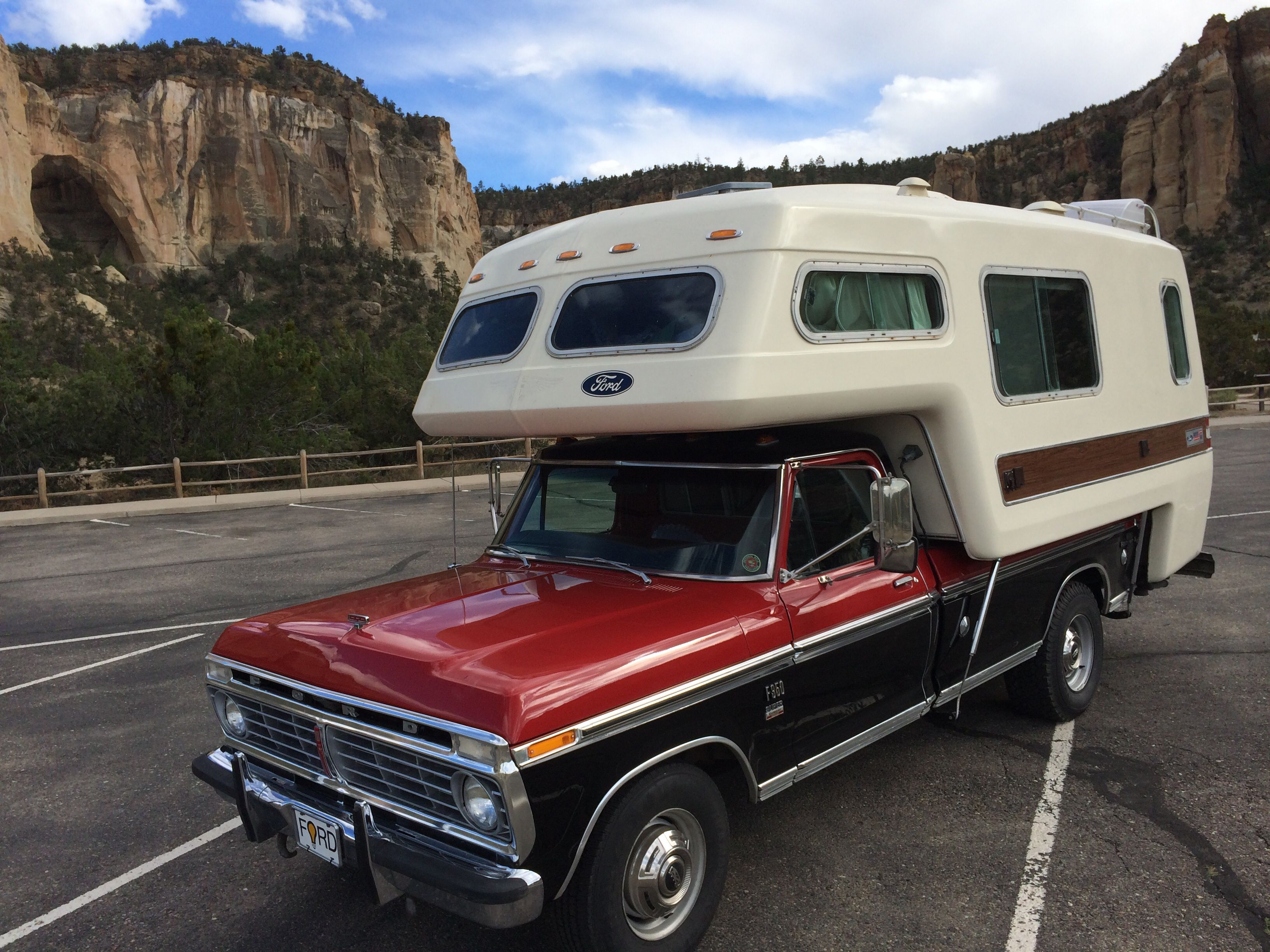 Love the all fiberglass ford truck camper http www americanroadcamper
