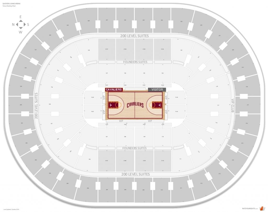Brilliant Cavs Seating Chart Floor Seating Charts Quicken Loans Arena Quicken Loans