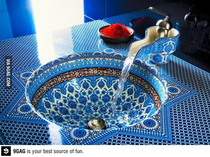 Genial Moroccan Design, Bathroom Sink And Faucet Moroccan Style. ♥ Just Gorgeous.