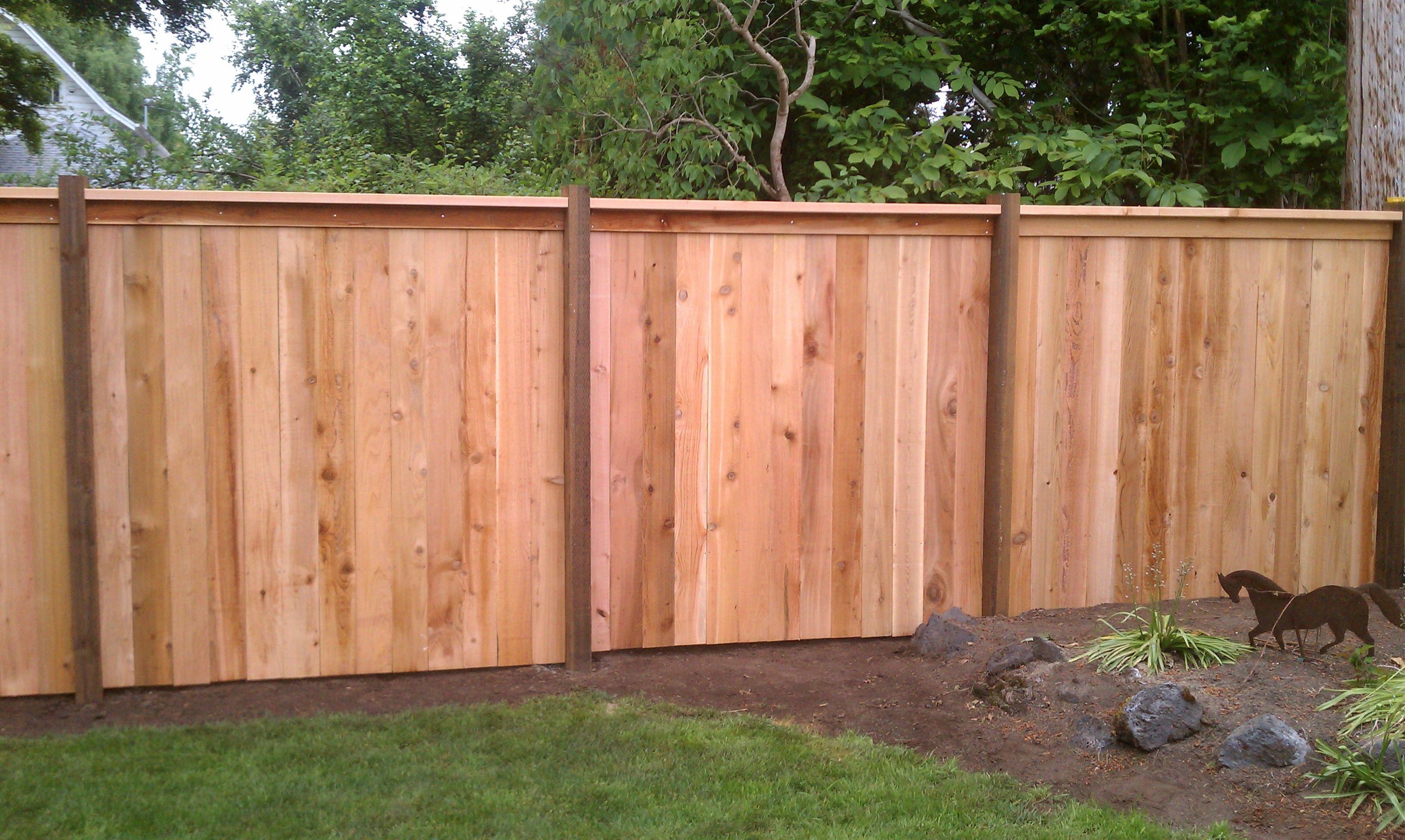 Cap And Bevel Fencing 1 Grade With 4x6 Pressure Treated Posts And 1x6 Western Red Cedar Boards Cedar Fence Wooden Fence Wooden Fence Posts