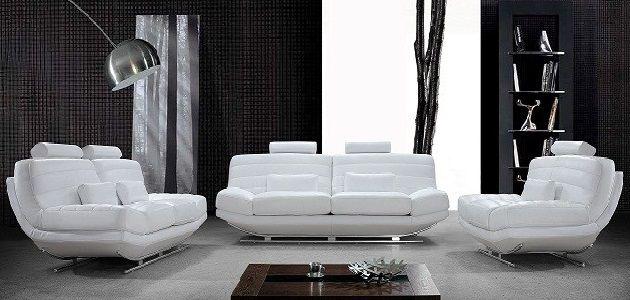Luxury White Leather Sofa Contemporary Leather Sofa White