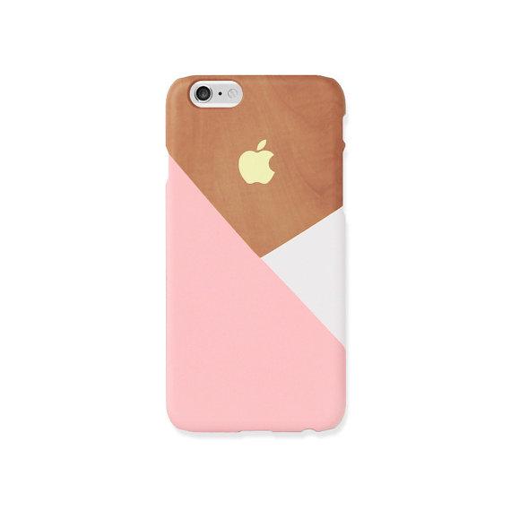 coque iphone 7 geometrique bois