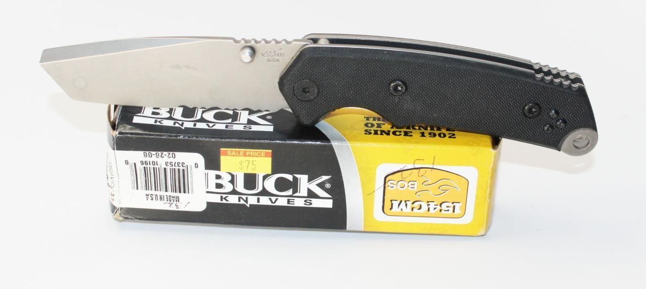 Discontinued Buck Bravo Tanto Blade Combo Edge Knife with G10 Handle