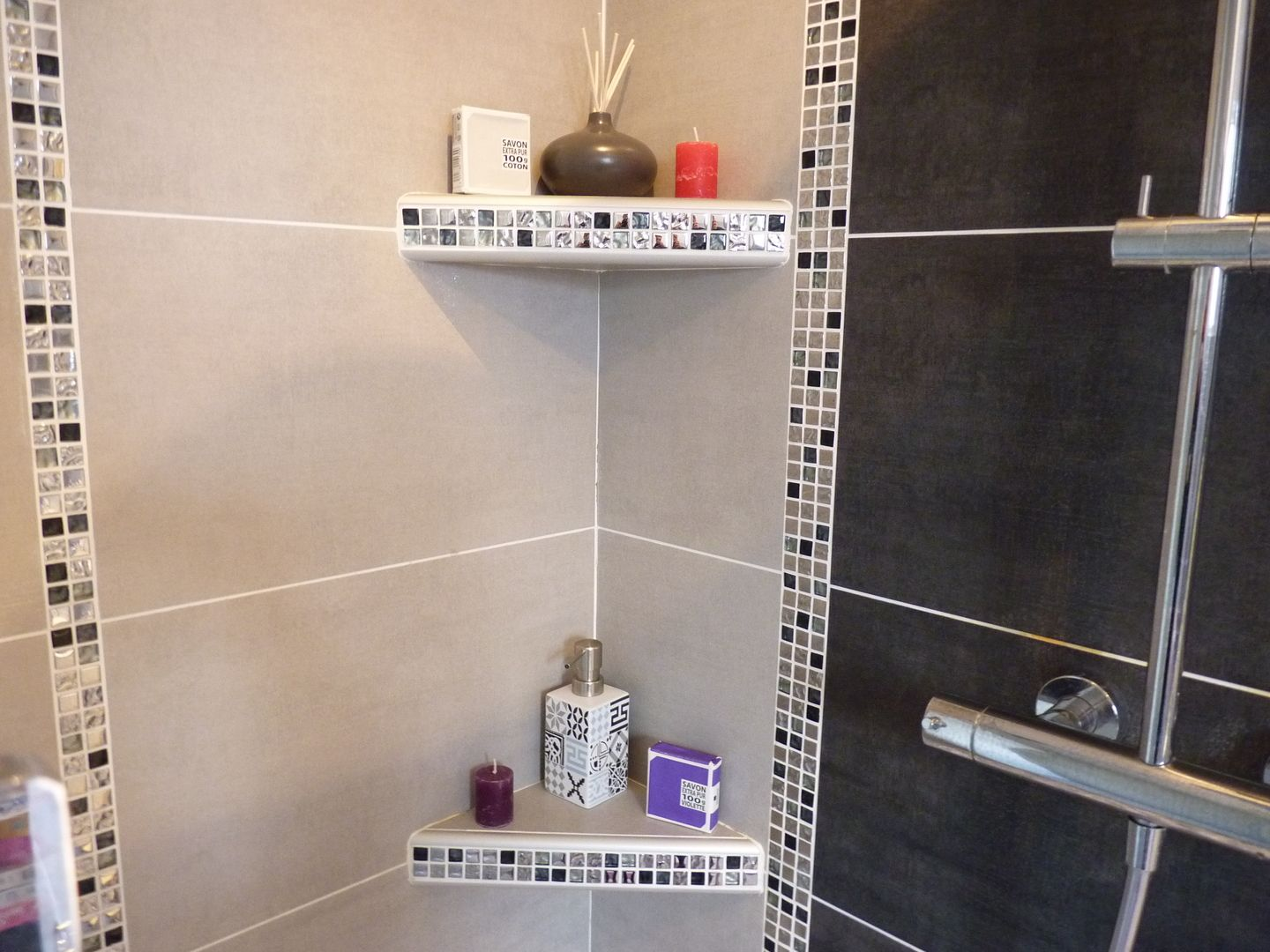 Etagere Douche Italienne Étagère Douche Mosaïque Gris In 2019 Bathroom Bedroom Decor